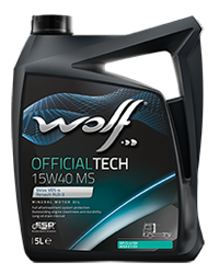 Wolf Oil Officialtech 15W40 MS - 5L Kanne