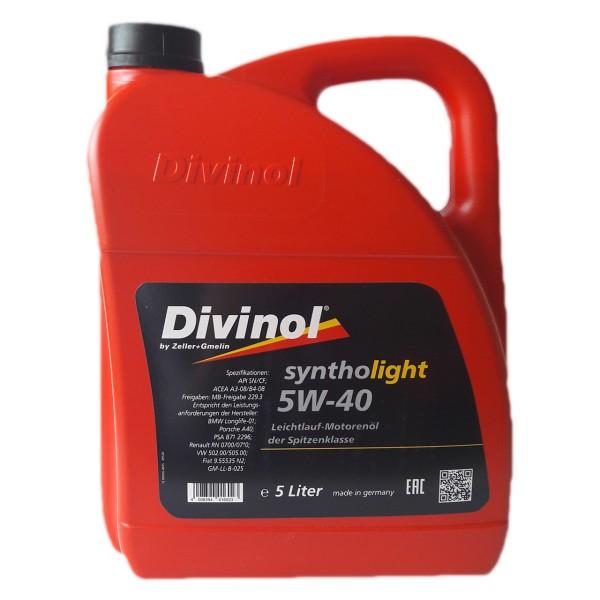 Zeller & Gmelin Divinol Syntholight 5W-40 - 5L Kanne