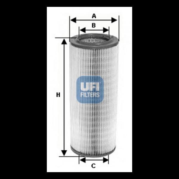Ufi Luftfilter 27.195.00 - Stück