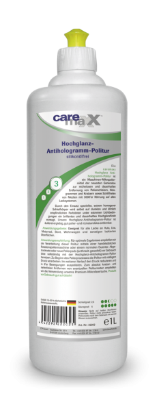 bluechem Hochglanz Antihologramm Politur  - 1L Dose