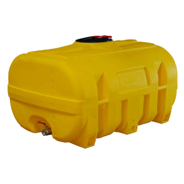 Cemo PE-Fass, kofferförmig, gelb, 2000 l - Stück