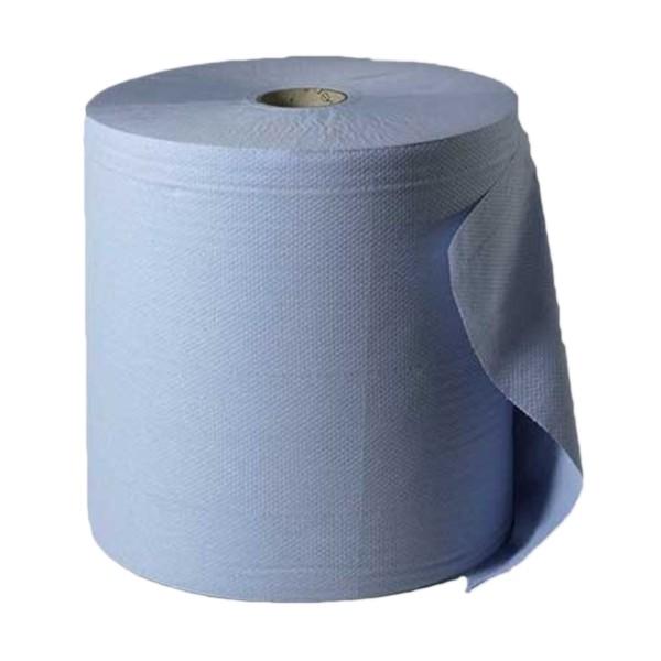 Papierrolle blau 2-Fach, 38 cm