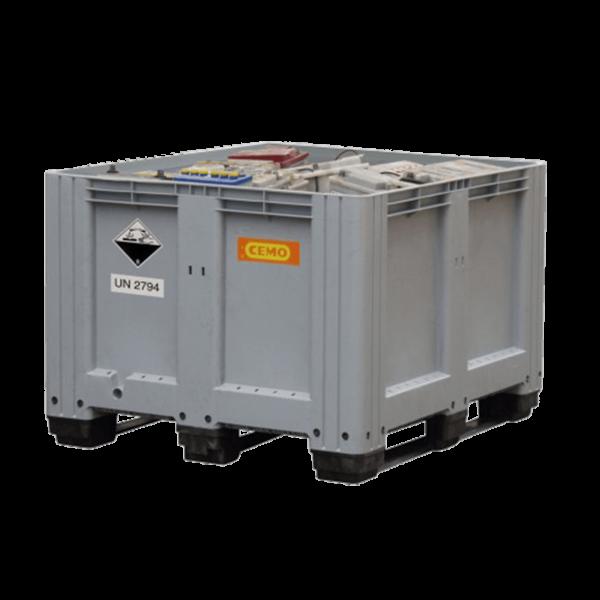 Cemo Altbatterie-Box 610 l, grau, mit 3 Auflagekufen - Stück