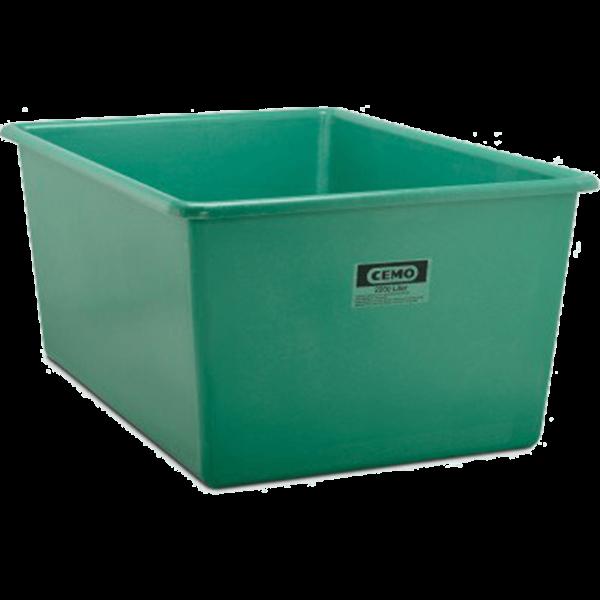 Cemo GFK-Rechteckbehälter 2200 l Standard grün - Stück