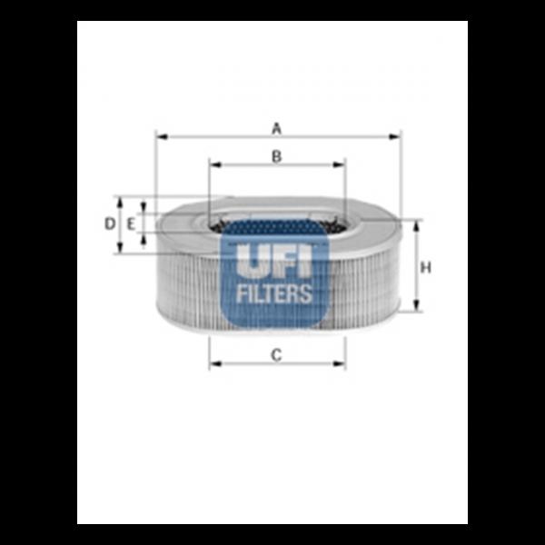 Ufi Luftfilter 27.941.00 - Stück