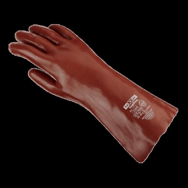 BIG Chemikalienschutz-Handschuhe, PVC rotbraun - Stück