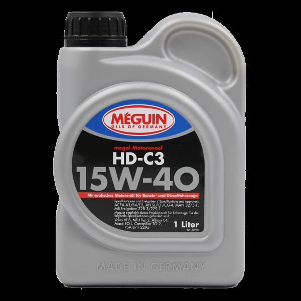 Meguin megol Motorenöl HD-C3 SAE 15W-40 - 1L Dose