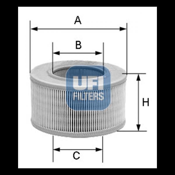 Ufi Luftfilter 30.807.00 - Stück