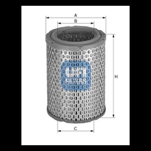 Ufi Luftfilter 27.885.00 - Stück