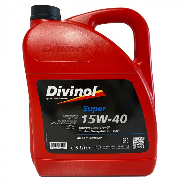 Zeller & Gmelin Divinol Super 15W-40 - 5L Kanne