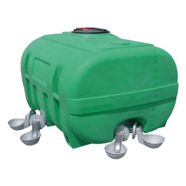 Cemo PE-Weidefass, kofferförmig, grün, 1000 l - Stück