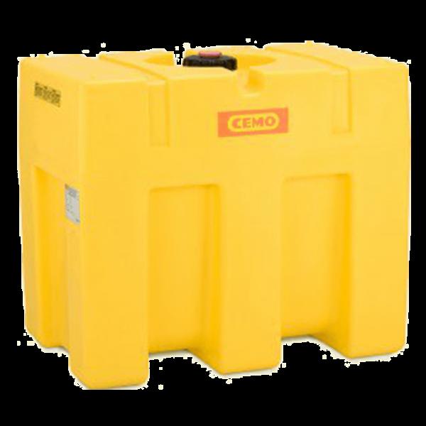 Cemo PE-Fass, kastenförmig, gelb, 600 l - Stück