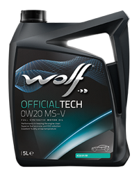 Wolf Oil Officialtech 0W20 MS-V - 5L Kanne