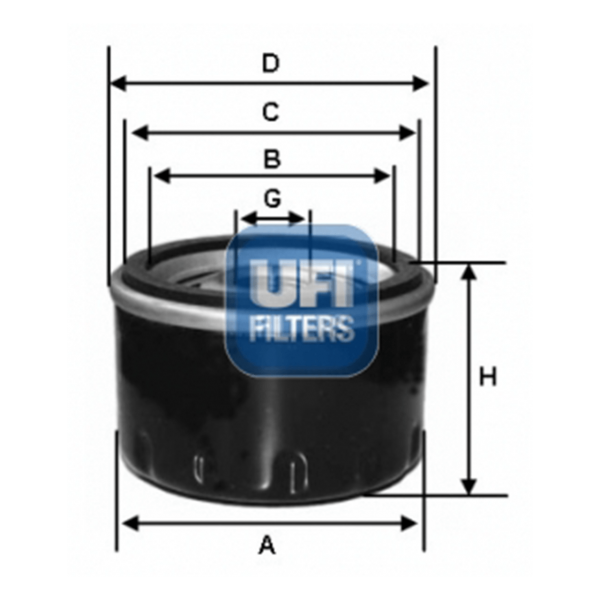 Ufi Ölfilter 23.149.00 - Stück
